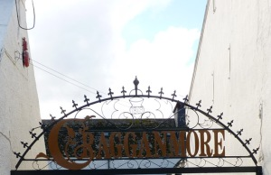 The gates at Cragganmore Distillery