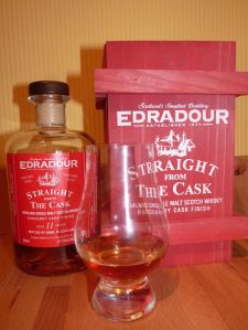 Edradour 11 Year Old Burgundy Finish Straight From The Cask