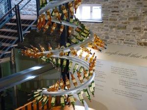 Whisky display at the Glenlivet visitors centre