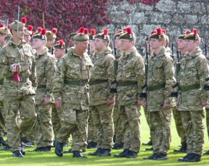 HRH the Prince of Wales inspects the Black Watch