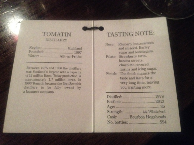Tomatin 35 official taste notes