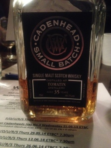 Tomatin 35 Years Old Cadenhead Small Batch