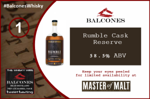 #BalconesWhisky Rumble Cask Reserve