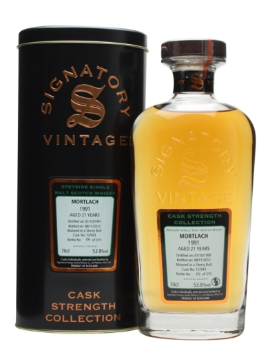 Mortlach 21 Years Old 1991 [Cask 12/943] - Cask Strength Collection (Signatory)