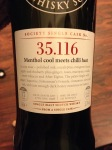SMWS 35.116 Menthol cool meets chilli heat