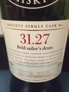 SMWS 31.27 A bold sailor's dram