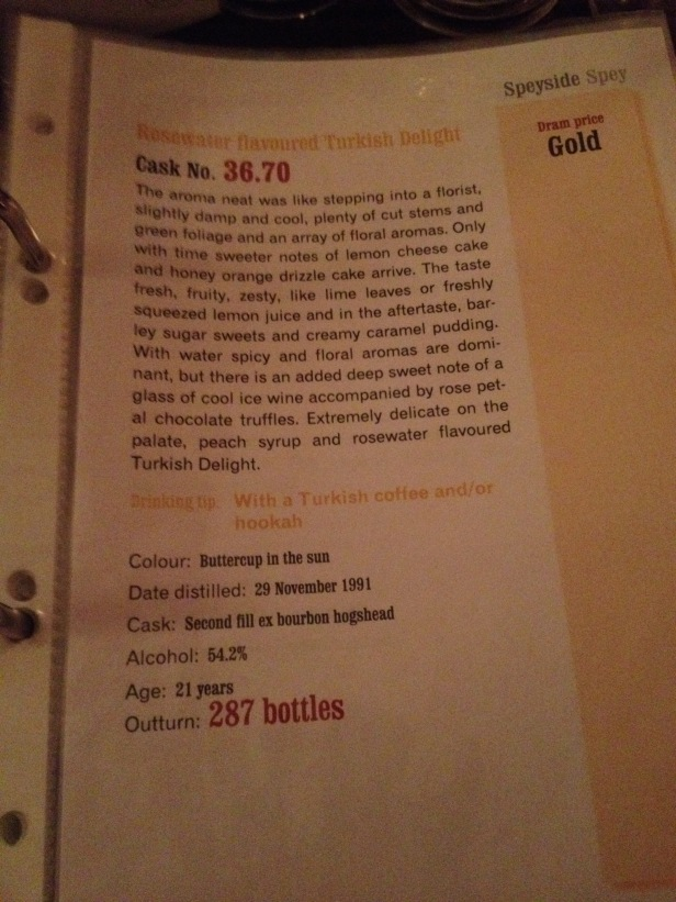 SMWS 36.70 taste note