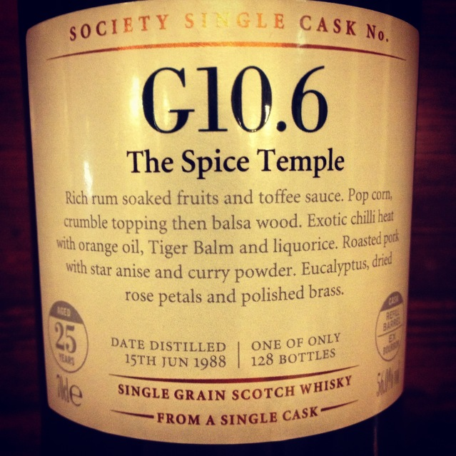 SMWS G10.6 The Spice Temple