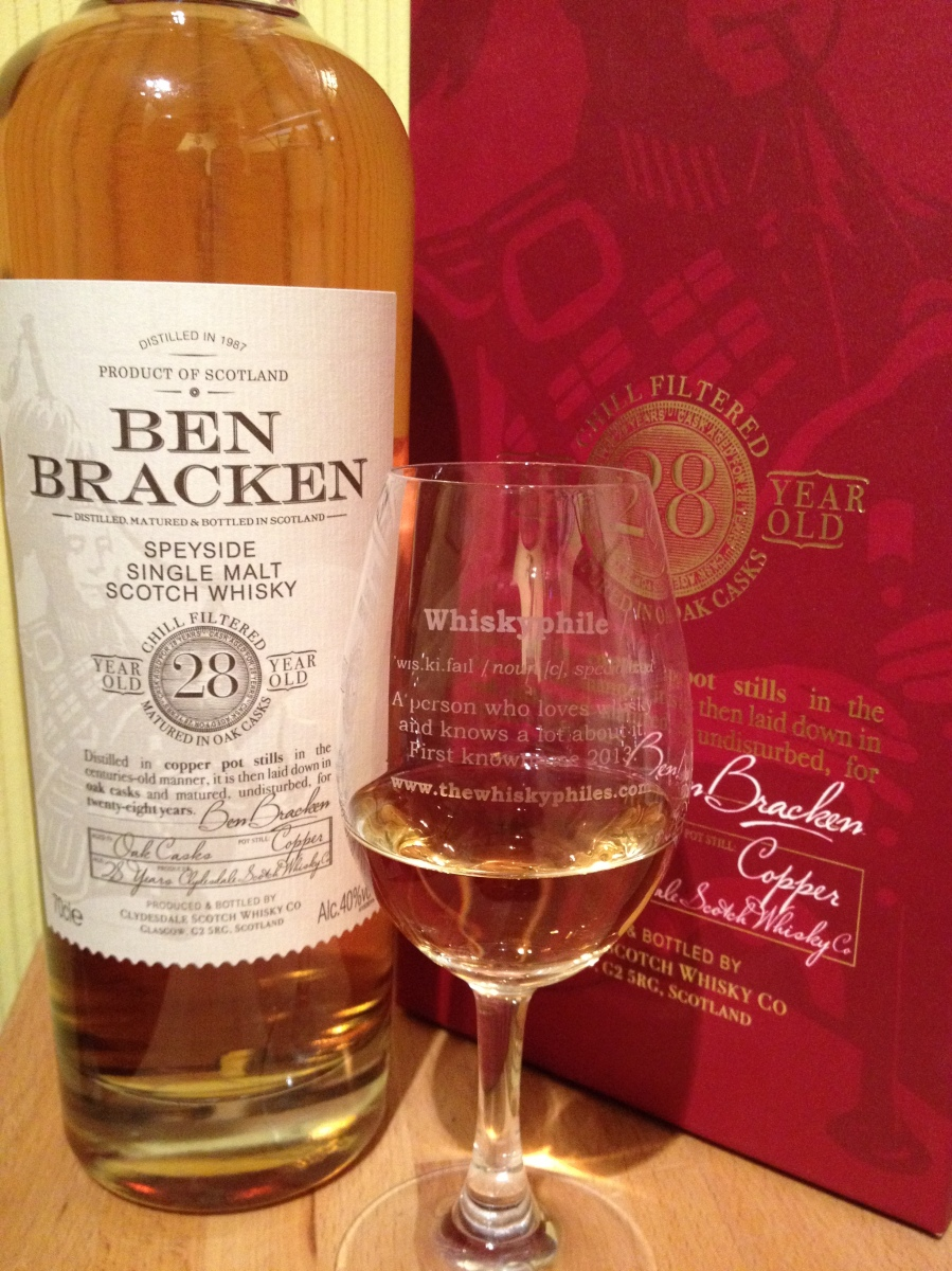 Ben Bracken 28 Year Old Speyside ~ 40% (Lidl)