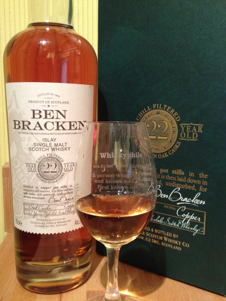 Ben Bracken 22 Year Old Islay (40%, Lidl, 2015)