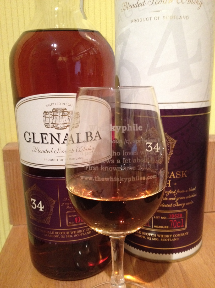 Glen Alba 34 Years Old Blended Scotch Whisky ~ 40% (Lidl)