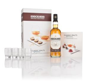 knockando-15-year-old-1997-classic-malts-and-food-gift-set-with-4x-glasses-whisky