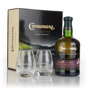 connemara-distillers-edition-with-2-glasses-whiskey