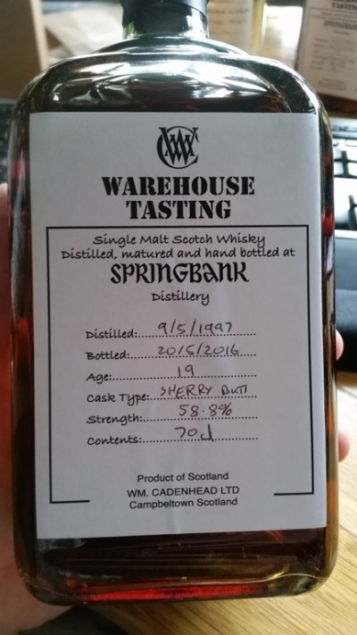 Springbank-19-years-old-recharred-sherry-butt-warehouse-tasting
