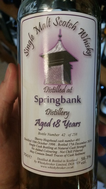 WhB Springbank 18 Sherry Cask 491