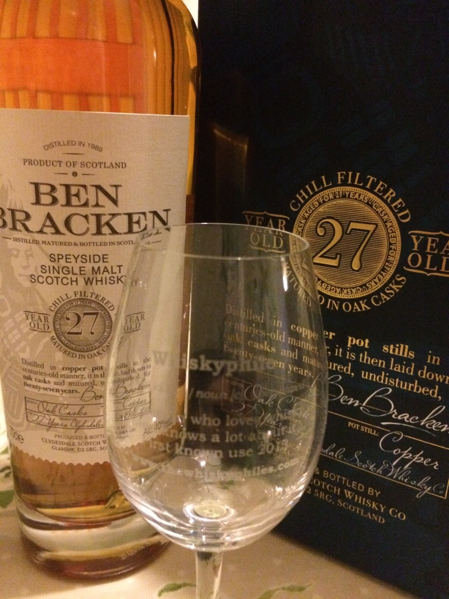 Ben Bracken 27 Years Old 1989 Speyside (40%, Lidl, 2016)