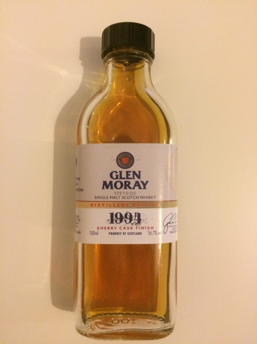 Glen Moray 1994/2016 Distillery Edition (56.7%, OB, Sherry Cask Finish)