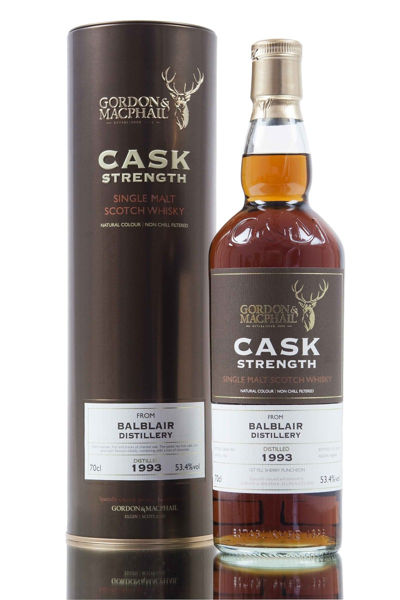Balblair 21 Years Old 1993 Cask Strength (53.4%, Gordon & MacPhail, Sherry Puncheon #1962, 2014)
