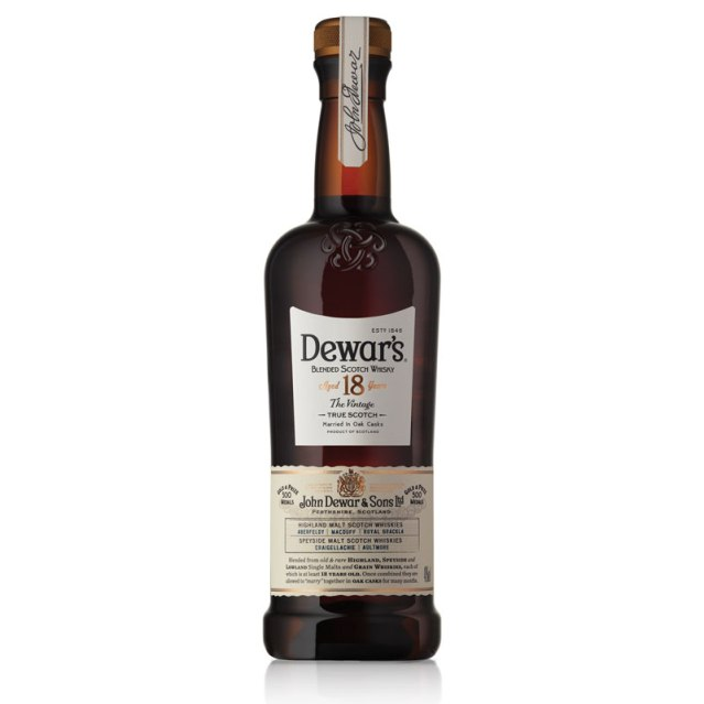 Dewars 18 Year Old Blended Scotch Whisky