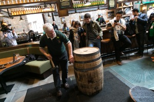 Jameson Distillery Cooperage display