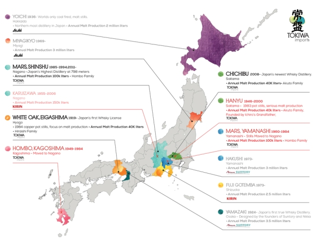 Japan Distillery Map