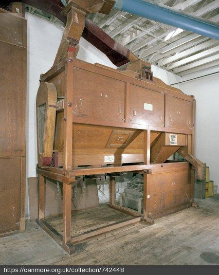Rosebank Distillery - Malt dressing machine in the mill house