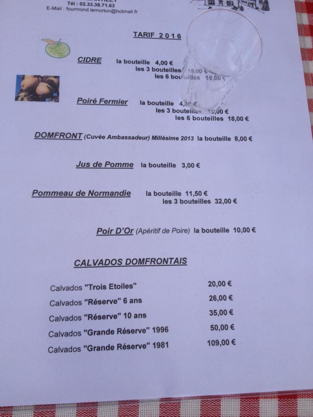 Fourmond-Lemorton price list