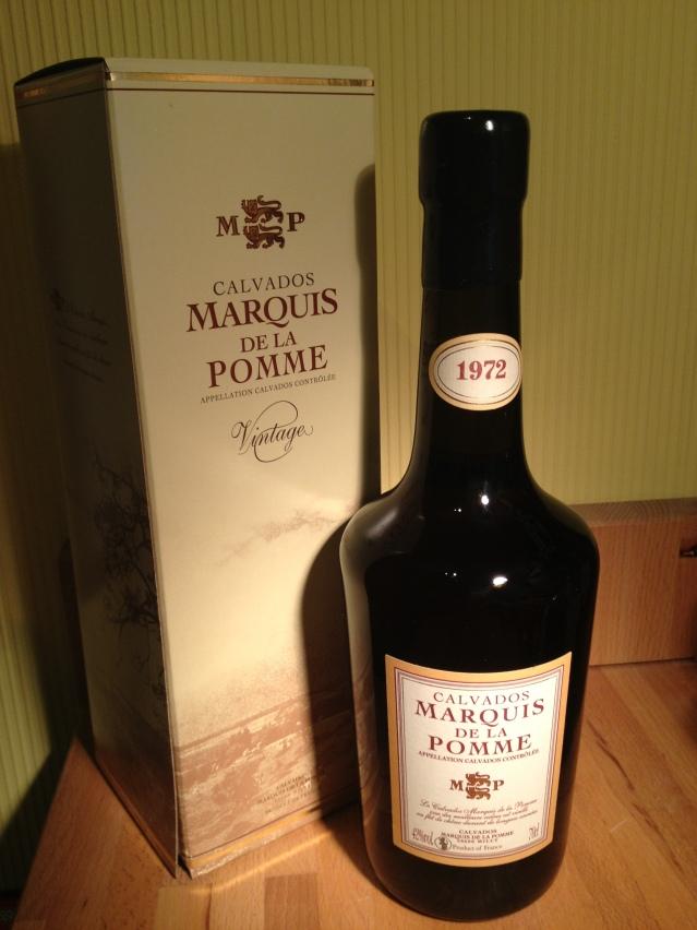 Calvados Coquerel Marquis de la pomme 1972