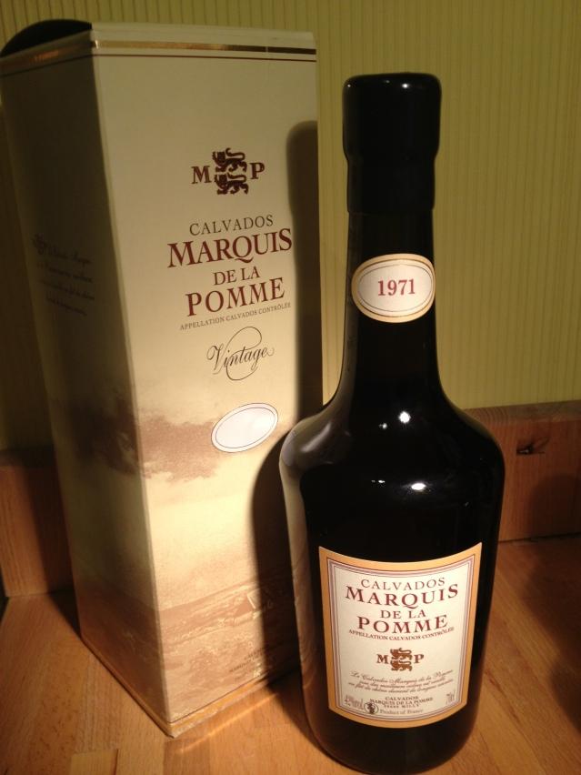 Calvados Coquerel Marquis de la pomme 1971