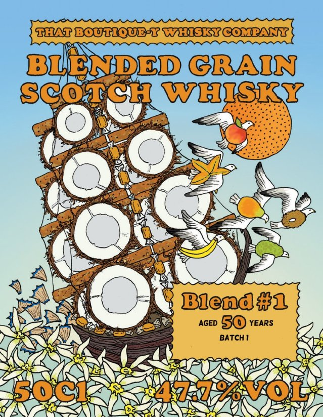 TBWC Blended Grain 50yo Batch 1 label