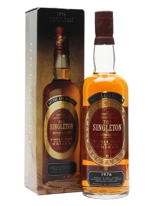 Singleton of Aucroisk 1976 box and bottle