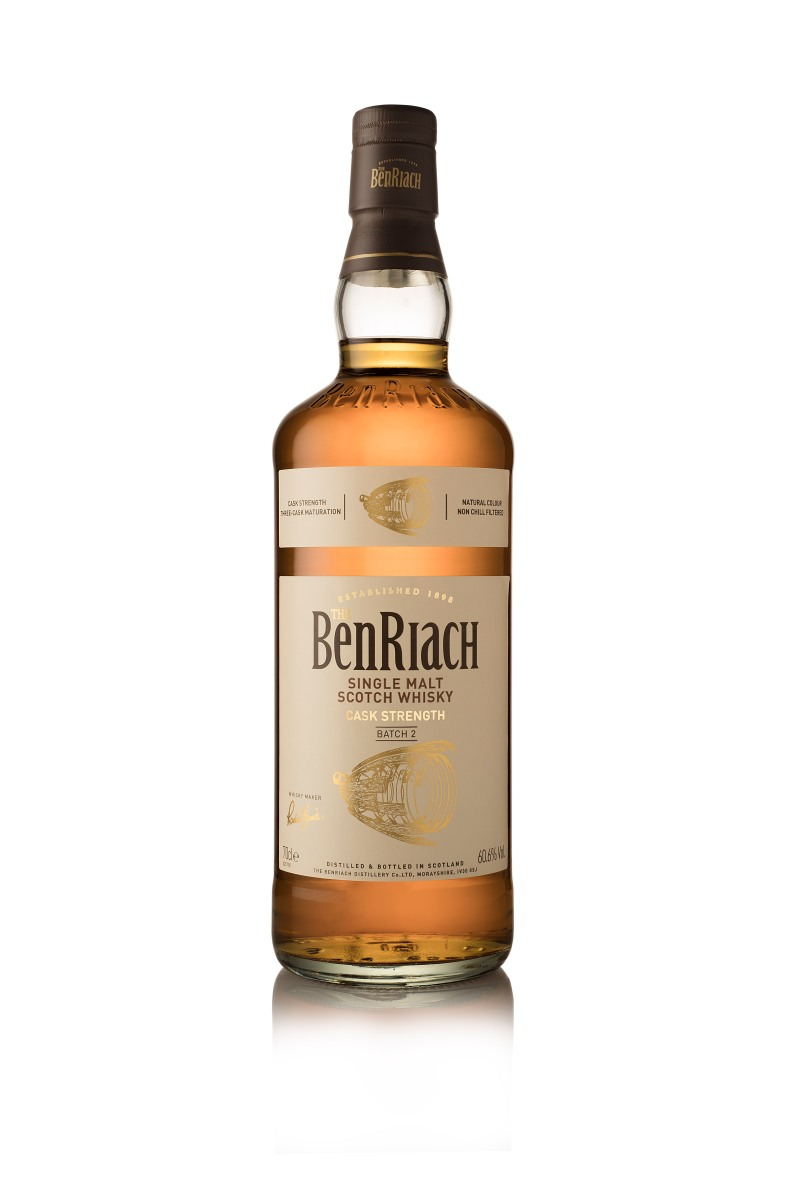 BenRiach Cask Strength Batch 2 (60.6%, OB, 2018)
