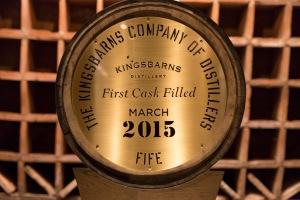 Kingsbarns Distillery first cask on display