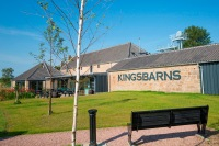 Kingsbarns Distillery view of cafe terrace mid res