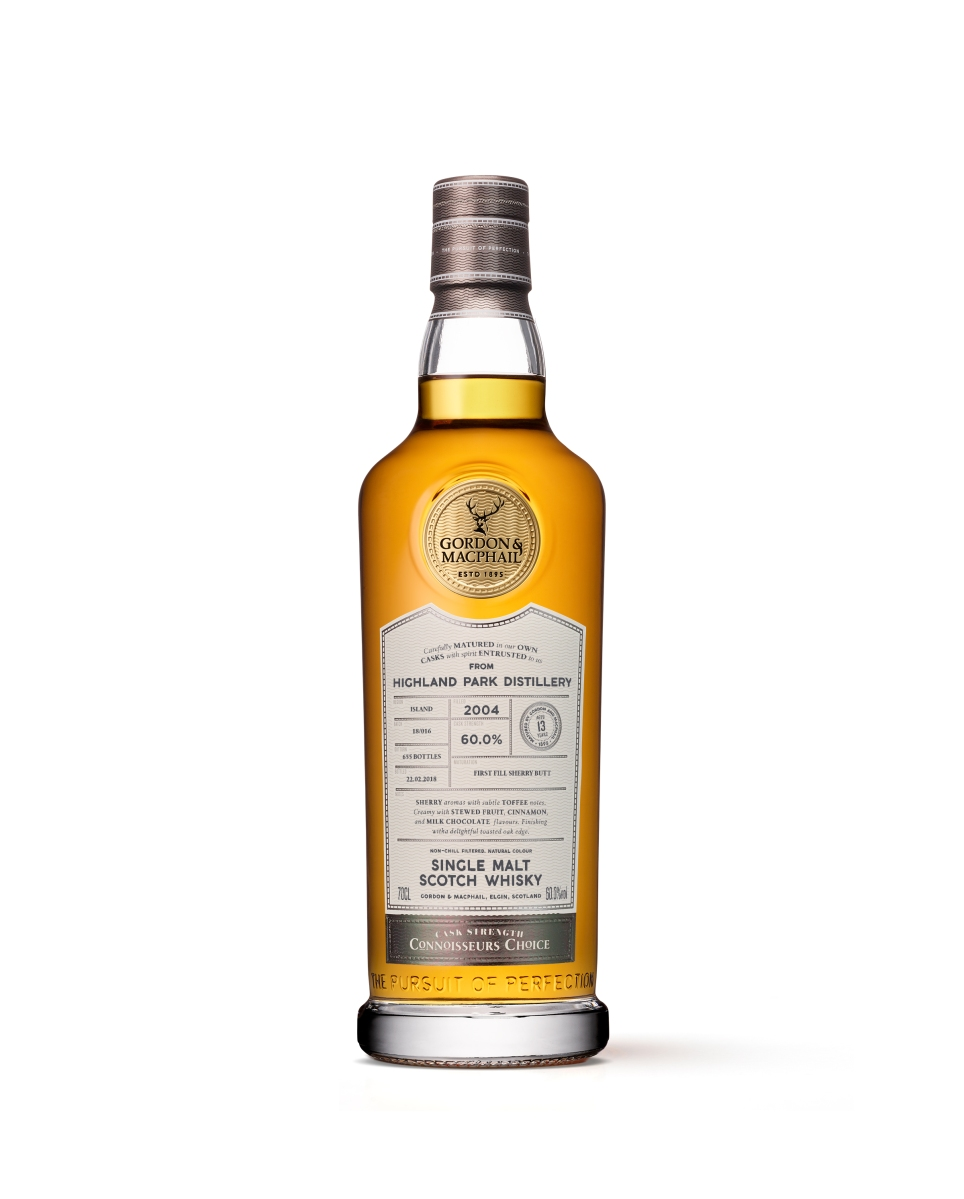 Highland Park 13 Years Old 2004/2018 Cask Strength (60.0%, Gordon & MacPhail, Connoisseurs Choice, First Fill Sherry Butt #3812, 655 Bottles)