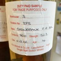 Springbank 14 Years Old 2002/2017 (52.3%, OB, Cage, F Rum Barrel, 1 Bottle)