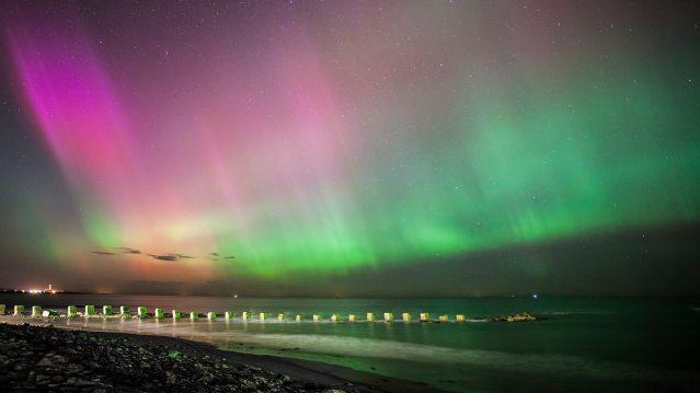 West Beach Aurora - (C) Alan Butterfield _ Moray Speyside Tourism