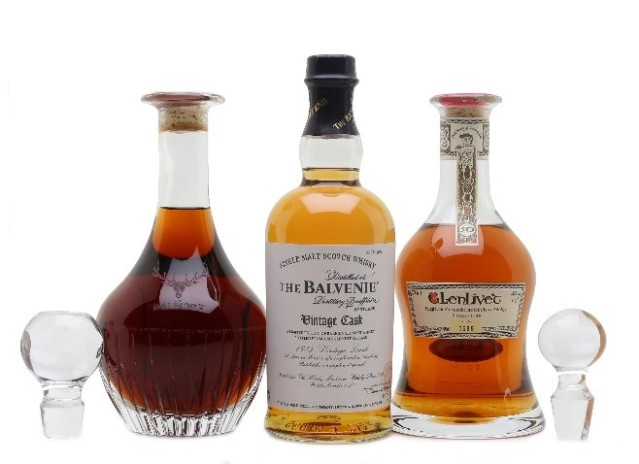 Rare whiskies charity auction