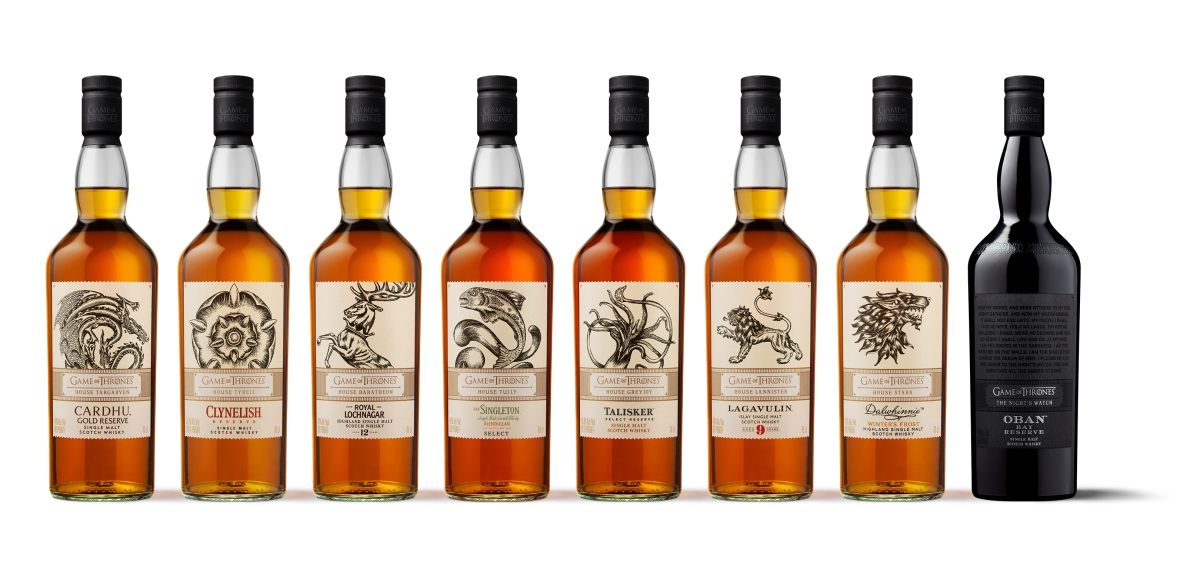 Diageo release Limited Edition Game of Thrones whiskies for pre-order