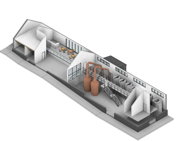 The Distillery and visitor centre artists impression