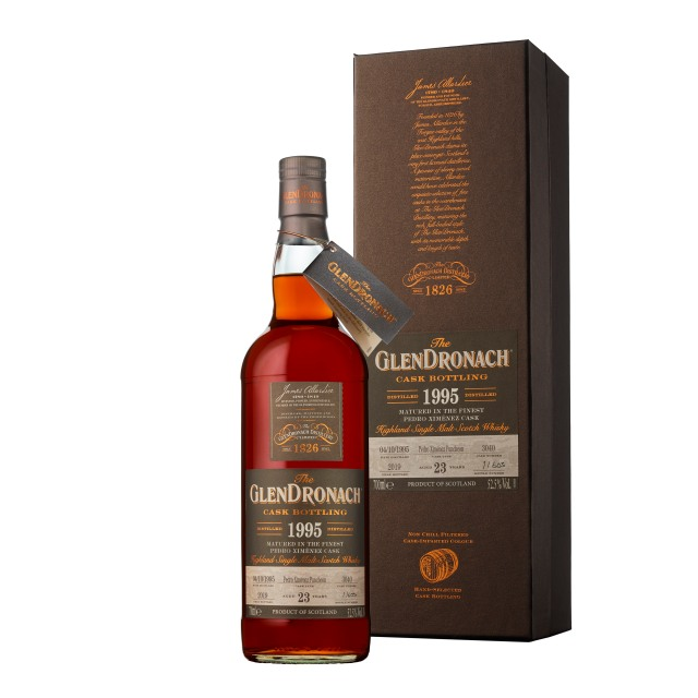 The GlenDronach 23 Years Old 1995 PX Puncheon #3040 (52.5%, OB, Batch 17, 603 Bottles, 2019)