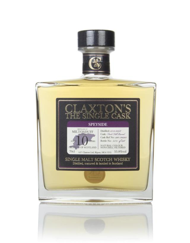 Miltonduff 10 Years Old 2008 The Single Cask (55.8%, Claxton's, 1st Fill Bourbon Barrel # 1961-700925, 248 Bottles, 2019)