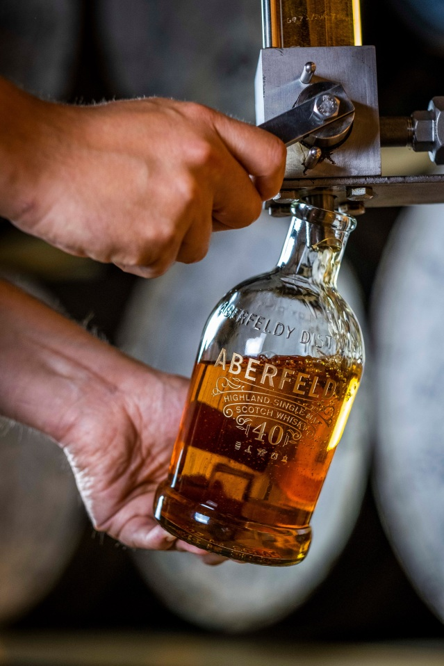 Aberfeldy 40 Hand fill at the distillery